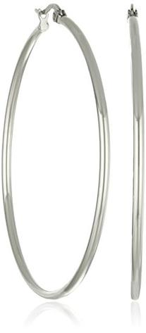 Stainless Steel Rounded Hoops Earrings