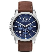 AX Armani Exchange Stainless Steel Watch with Blue Dial and