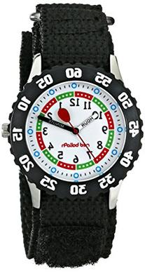 Red Balloon Boys' Stainless Steel Watch, Black Strap