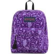 Jansport High Stakes Backpack in Purple Night Jungle