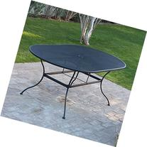 Belham Living Stanton 42 x 72 in. Oval Wrought Iron Patio