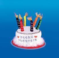Star Power Birthday Candle Party Hat, White, One Size