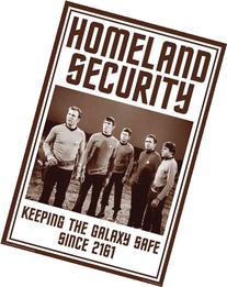 Aquarius Star Trek Homeland Security Poster, 24 by 36-Inch