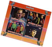 Star Trek stamps - From the original series with Kirk and