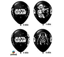 Qualatex Star Wars Biodegradable Latex Balloons Onyx Black