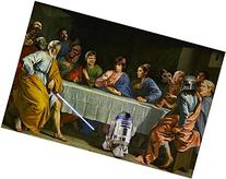 STAR WARS LAST SUPPER art poster FUNNY ICONIC R2D2