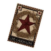 Carson 28 x 40 in. Star Wreath House Flag