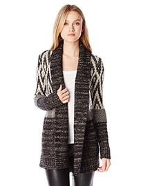 Lucky Brand Women's Stargazer Cardigan Sweater, Black/Multi