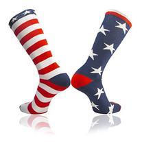 TCK Stars & Stripes American Flag Mismatched Athletic Socks