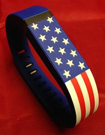 Large Stars & Stripes American US USA Flag Band for Fitbit
