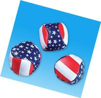 "2"" STARS AND STRIPES FOOTBAG, Case of 288"