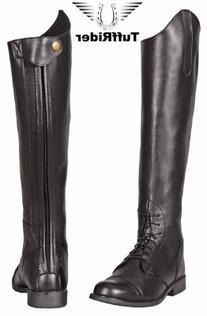 TuffRider Ladies Starter Back Zip Field Boots, Black, 8 M US