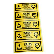 """Officeship 4.5""""x 1.75"""" Static Warning Labels """"Caution -"""