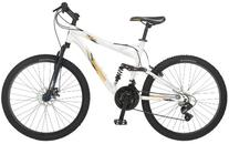 Mongoose Men's Status 2.4 Full Suspension Bicycle , White,
