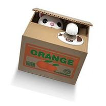 Matney Stealing Coin Cat Box- Piggy Bank - White Kitty -