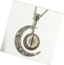 Steampunk Compass Pendant, Steampunk Compass Necklace,