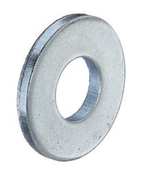 Steel Flat Washer, Zinc Plated Finish, ASME B18.22.1, No. 8