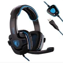 Sades Stereo 7.1 Surround Pro USB Gaming Headset with Mic