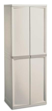 Sterilite 01428501 4-Shelf Cabinet with Putty Handles,