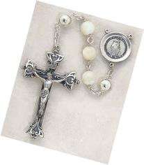 Sterling Silver Rosary Sterling Silver Center, Mother of