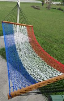 Stick Hammock Red White and Blue American Style