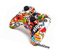 """Sticker Bomb"" Xbox 360 Rapid Fire Modded Controller 35 Mode"