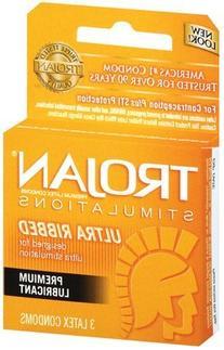 Trojan Stimulations Ultra Ribbed Lubricated Latex Condoms-3