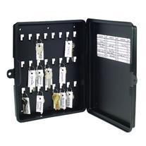 24-Key Storage Box, 8.63 x 10 x 1.88 Inches, Black