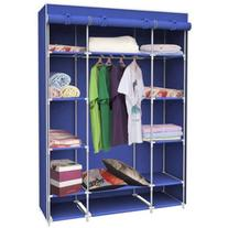 Sunbeam Storage Closet with Shelving, Navy Blue