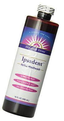 Heritage Store Ipsadent Herbal Mouthwash, 16 Ounce