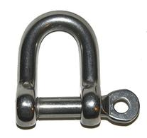 """""""D"""" STRAIGHT SHACKLE WITH SCREW PIN WITH EYE - 316 AISI"""