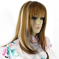 Diy Women's Medium Size Straight White and Brown Color