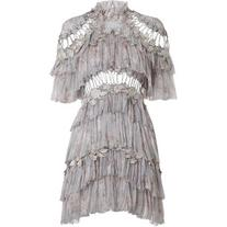 ZIMMERMANN Stranded Tier Mini Dress
