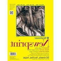 Strathmore Rough Newsprint Paper Pad 9X12-32Lb 50 Sheets