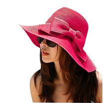 Eforstore Women Straw Hat Floppy Wide Brimmed Hats Summer