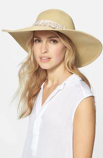 Women's Badgley Mischka Straw Sun Hat