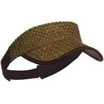 Straw Trucker Visor - Brown OSFM