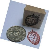 "Strawberry rubber stamp WM 0.7x0.8"" miniature"