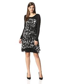 Kensie Women's Streaky Zebra Dress, String Combo, Small