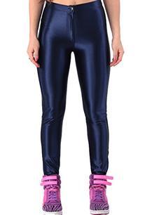 ABUSA Women's Stretch Leggings Disco Satin Pants 2X-Large