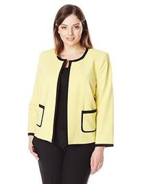 Nine West Women's Plus-Size Stretch Piped Cardigan Jacket,