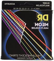 DR Strings NMCA-11 DR NEON Acoustic Strings, Custom Lite,