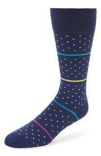 Men's Paul Smith Stripe & Dot Socks, Size One Size - Blue