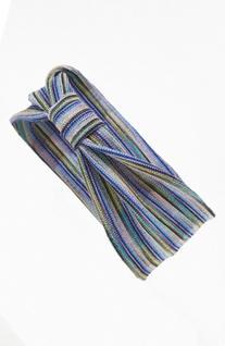 Tasha Stripe Knot Head Wrap, Size One Size - White