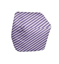 E by design Stripe Pouf, 18-Inch, 2Heather Purple