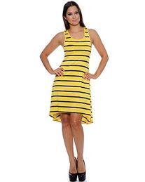 Enimay Women's Colored Stripe Short Summer Swing Dress
