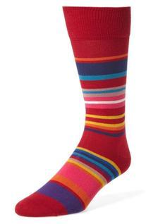 Men's Paul Smith Stripe Socks, Size One Size - Red