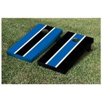 Striped Alternating Cornhole Boards Game Set, Royal Blue /