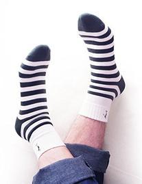 Vero Monte 6 Pairs Mens Striped Golf Socks  1291