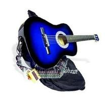 38 Inch Student Beginner Blue Acoustic Toy Guitar with